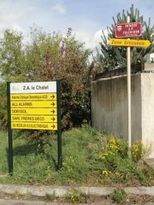 Panneau ZA Echalas
